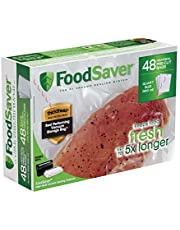 "FoodSaver 8""x10"" 1 Qt, Pre-Cut Food Storage Bags (48 Bags)"