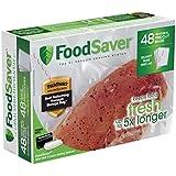 "FoodSaver 8""x11"" 1 Qt, Pre-Cut Food Storage Bags (48 Bags)"