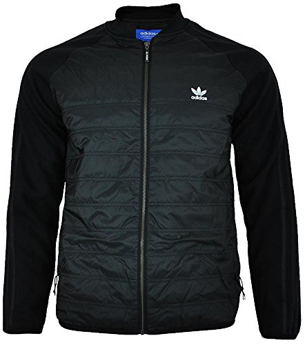 adidas Originals Mens Jacket SST TT Quilted Trefoil Primaloft Track Jacket Black New BP7101 (Large) (Sst Satin)