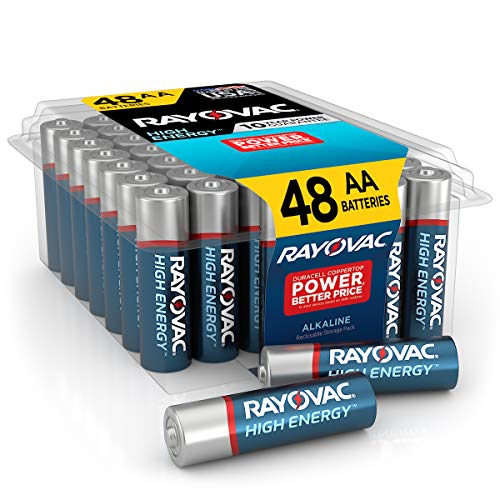 Rayovac AA Batteries, Alkaline Double A Batteries (48 Battery Count)