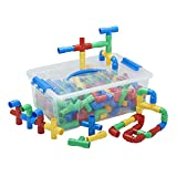 ECR4Kids Totally Tubular Pipes & Spout Math Manipulatives Building Kit, Educational Sensory Learning Toys for Children (160-Piece Set)