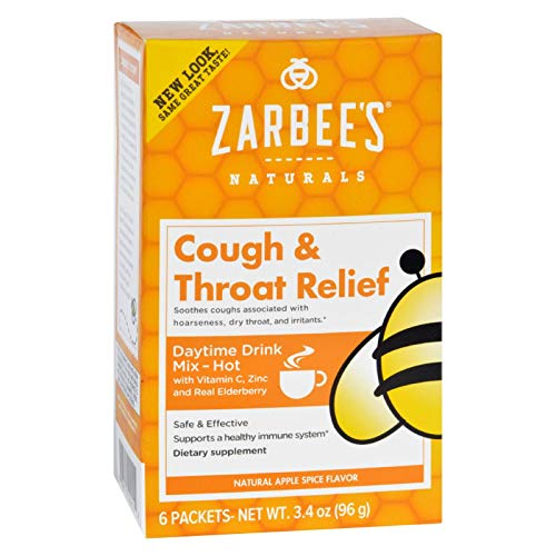 Zarbees Cough and Throat Relief Drink Mix - Daytime Supplement - 6 Packets - Safe and Effective - Supports Healthy Immune System