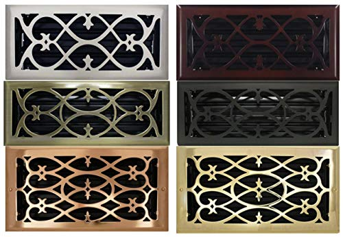 """2"""" x 12"""" (3.5"""" x 13.25"""" Overall Size) Flat Black Victorian Register with Damper (HVAC VENT COVER)"""