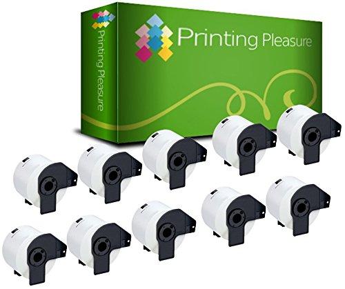 Printing Pleasure 10x DK-11209 29mm x 62mm Compatibile Rotolo da 800 Etichette adesive per Brother P-Touch QL-500, QL-500BS, QL-500BW, QL-550, QL-560, QL-560VP, QL-560YX, QL-570, QL-580, QL-580N, QL-650TD, QL-700, QL-710W, QL-720NW, QL-1050, QL-1050N, QL-1