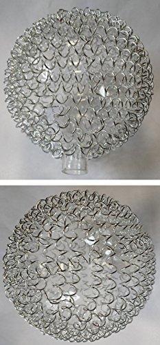 Lampe verre 6345Parasol de rechange en verre Abat-jour verre de rechange pour lampe suspension fil Boule Globe en verre Wofi