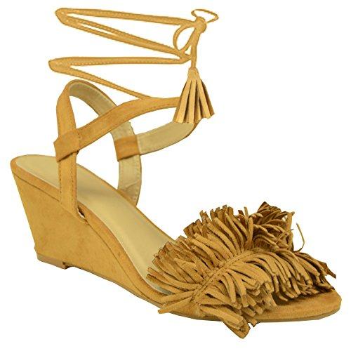 Cucu Fashion - Zapatos de tacón  mujer Marrón - Khaki/Tan