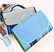 """VASLON Extra Large Outdoor Waterproof Sandproof Foldable Picnic Blanket Tote 58"""" x 79"""" for Family Co"""