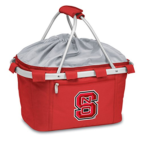 Picnic Time 645-00-100-422-0 North Carolina State Embroidered Metro Picnic Basket, Red by PICNIC TIME