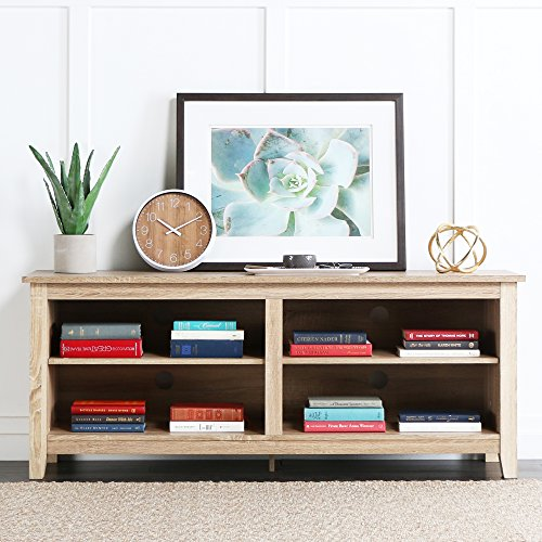 New 58'' Modern Tv Console Stand - Natural Finish by Home Accent Furnishings