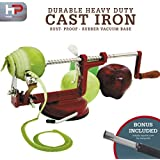 Multifunction Peeler Slicer & Corer By HP Home Productions- Prepare Your Apples, Potatoes & More In Seconds- Fast & Easy To Use & Clean- High Quality- Perfect For Meal Preparation- FREE BONUS Corer