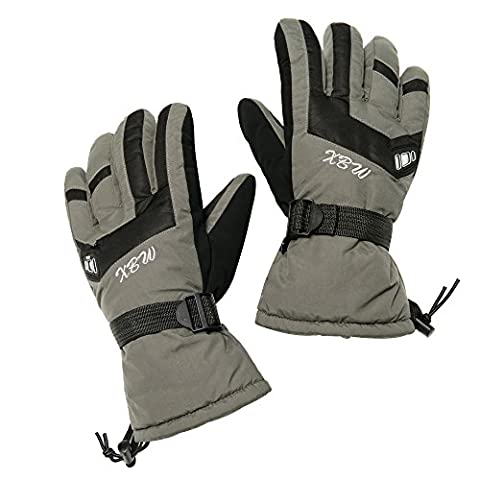 IVEKEN Ski gloves Waterproof Windproof Men's Winter Thinsulate Thermal Warm Snow Snowboarding Snowmobile Work Gloves (Green, - Youth Hockey Goalie Catcher