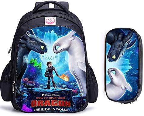 Cvxgdsfg 16 pulgadas Cómo entrenar a tu dragón ortopédicos bolsos de escuela de los niños mochila niños y niñas los niños del bolso de escuela (Color : 2pcs C)