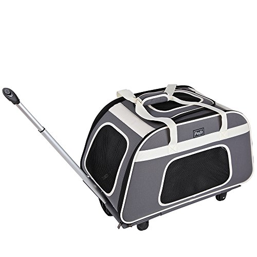 Petsfit Rolling Pet Carrier for Pets up to 28 Pounds, Not Airline Approved (Best Airline Carrier For French Bulldog)