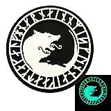 Viking Úlfhédnar No Mercy Only Violence Wolf Odin Patch (Glow Dark 3D-PVC Rubber)