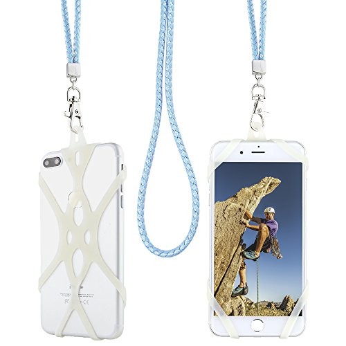 Gear Beast Universal Cell Phone Lanyard Compatible with iPhone, Galaxy & Most Smartphones Includes Web Phone Case Holder, Braid Neck Strap