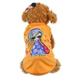 Walaha Pet Cotton Vest Fashion Girl Dog Vest Dog Senorita Vest Dog Cat Summer Clothes