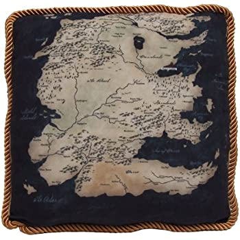 Factory Entertainment Game of Thrones Westeros Map Throw Pillow South Map