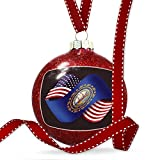 Christmas Decoration Friendship Flags USA and New Hampshire region America (USA) Ornament