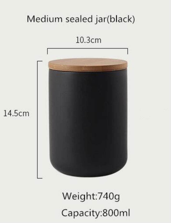 800 ML L sigillato Bianco-Vaso 1000 ML Barattolo in Ceramica sigillato con Coperchio in bamb/ù///Spezie Serbatoio Contenitore Cucina Bottiglia per Alimenti caff/è t/è Carrello GGZX 260 ML