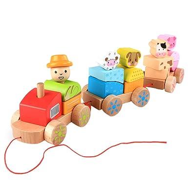 Amazon.com: UMFun - juguete de madera con diseño de animales ...
