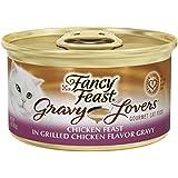 Fancy Feast Wet Cat Food, Gravy Lovers, Chicken Feast, 3-Ounce Can, Pack of 24
