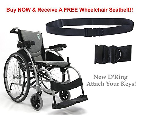 New Karman S-Ergo 106 ( S-Ergo106F18SS ) Ergonomic Wheelchair with 18