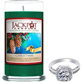 Jackpot Candles Christmas Candle with Ring Inside (Surprise Jewelry Valued at 15 to 5,000) Ring Size 6