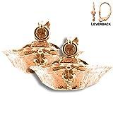 14K Rose Gold 15mm Nurses Hat Leverback Earrings