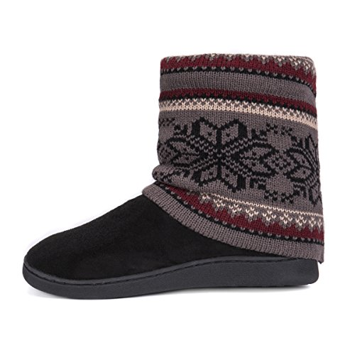 Pictures of MUK LUKS Women's Raquel Slippers-Charcoal, Medium M US 4