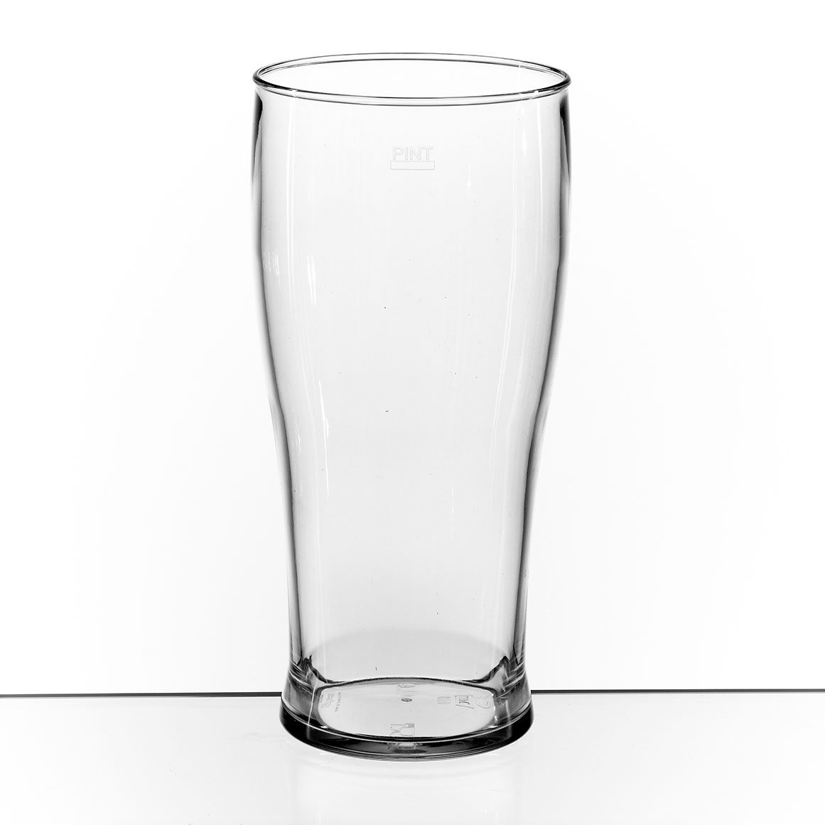 Set of 4 Elite Polycarbonate Tulip Pint Tumblers 22oz CE Lined at 20oz