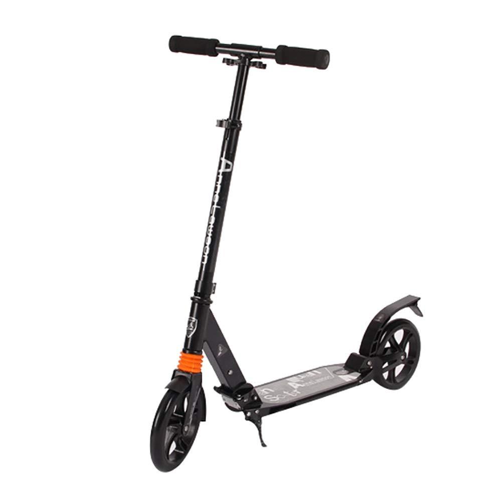 キックスクーター スクーター、200mmのPUホイールとAEBCベアリング、高さ調節、サポート100KG重量を蹴ります