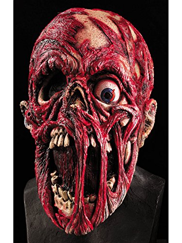 Rubie's Screaming Corpse Overhead Mask, Flesh/Red , One (Monster Adult Halloween Mask)