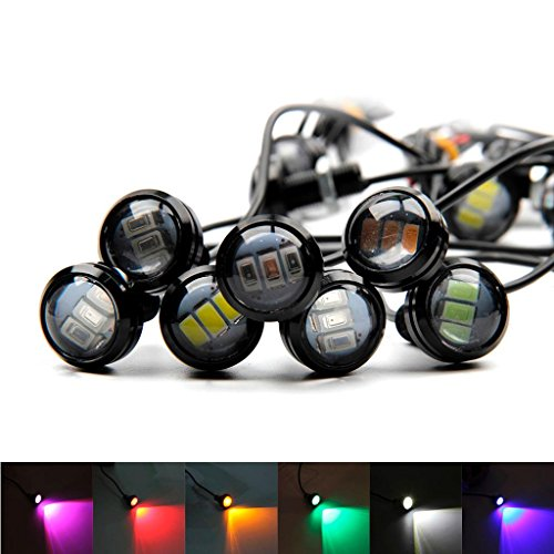 Ecosin-Fashion-2x-12v-24v-AmberRed-4-LED-Side-Marker-Tail-Light-Lamp-Clearance-Trailer-Truck