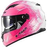 Motorrad LS2FF320Wind Pink Damen Motorrad Full Face Helm mit Innen Sonnenblende Neu