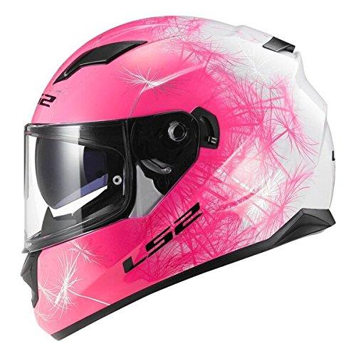 Amazon.es: LS2 FF320 - casco completo de moto con visera interior (talla M), cortaviento, rosa, para mujer