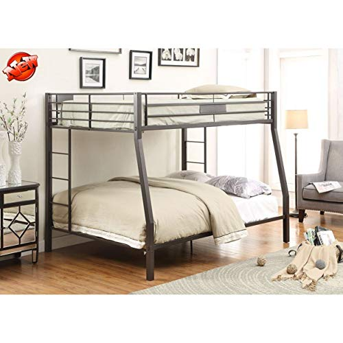 Jresboen-Updated-Version-Stronger-Bunk-Bed-Industrial-Style-Thicken-Metal-Bunk-Bed-Frame-with-Side-Ladder-and-Guard-Rails-for-Kids-Girls-Boys-and-Adults-Full-XL-Over-Queen