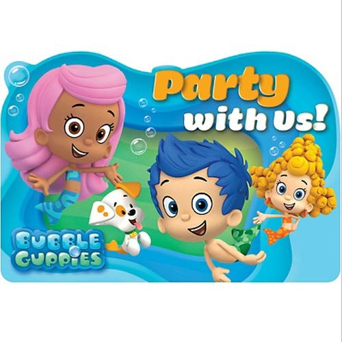 Bubble Guppies Invitations w/ Envelopes (8ct) ()