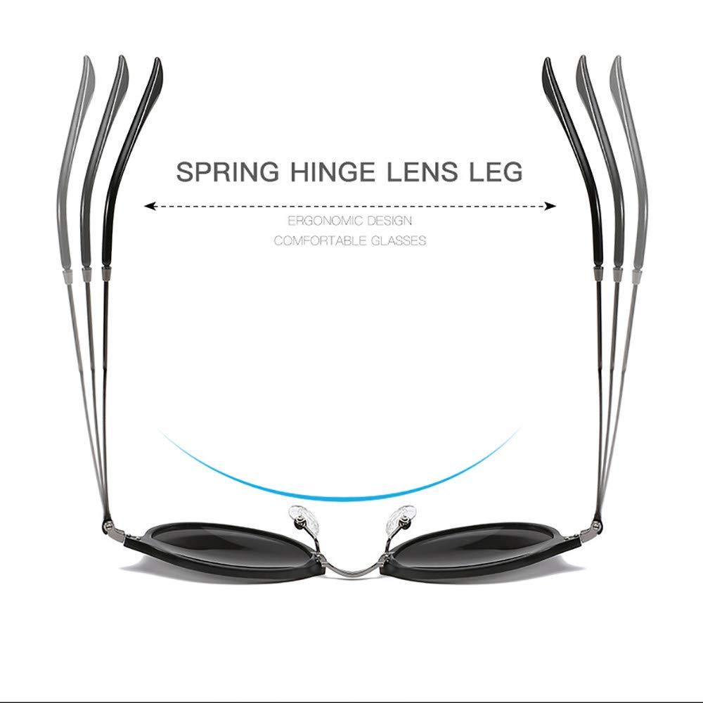 WGDWGD Mens Polarized Sunglasses Lightweight Aluminum Magnesium Full Frame Colorful Sunglasses