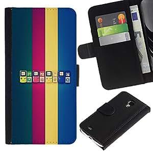 // PHONE CASE GIFT // Moda Estuche Funda de Cuero Billetera Tarjeta de crédito dinero bolsa Cubierta de proteccion Caso Samsung Galaxy S4 Mini i9190 / Game Boy Generations /