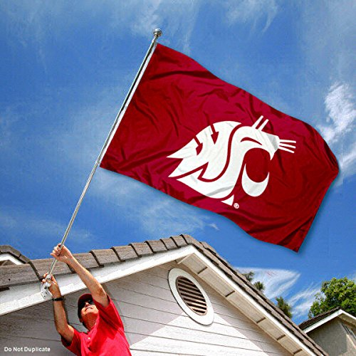 Washington State Cougars WSU University Large College Flag