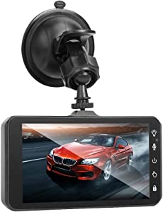 4Inch Touch Screen Dual Lens Car DVR Camera Recorder Night Vision Dash Cam