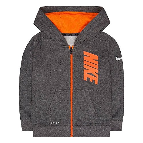 Nike 86B217-G1T Therma-FIT Fleece Logo Graphic Hoodie Kids Youth Sz 7 Gray by NIKE