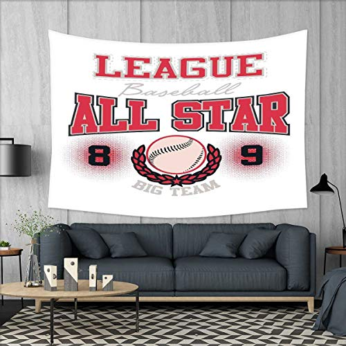 smallbeefly Kids Tapestry Wall Tapestry College Baseball Sof