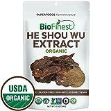 recipe fo - Biofinest He Shou Wu (Fo-Ti) Extract Powder - 100% Freeze-Dried Superfood - USDA Certified Organic Kosher Vegan Raw Non-GMO - Stamina Immunity Energy Tonic - For Smoothie Beverage Blend (4 oz)