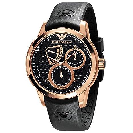 Reloj Emporio Armani® MECCANICO AR4619 de los hombres de color negro y oro Color de rosa de sonido envolvente con: Amazon.es: Hogar