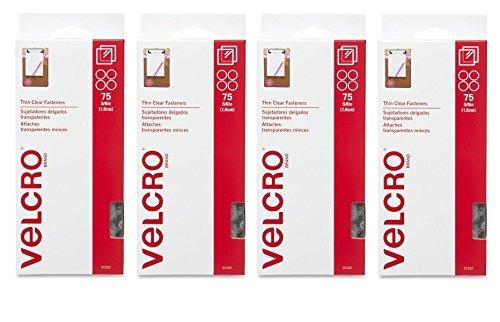VELCRO Brand - Sticky Back - 5/8'' Coins (300 Sets, Clear) by VELCRO Brand