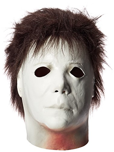 Loftus International Trick Or Treat Studios Halloween II Elrod Full Head Mask Black White One-Size Novelty Item -