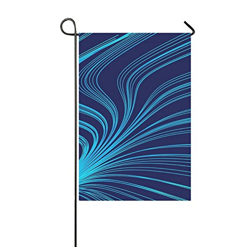 Bell Illinois (Home Decorative Outdoor Double Sided Line Geometric Blue Object Tinker Pattern Garden Flag,house Yard Flag,garden Yard Decorations,seasonal Welcome Outdoor Flag 12 X 18 Inch Spring Summer Gift)