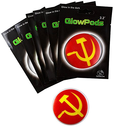 Hammer and Sickle Glow Stickers - Glow in the Dark Party Favors Set of 6 ps Glow Toys