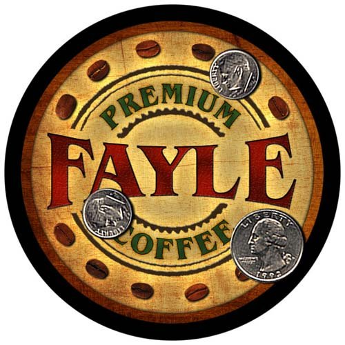 4 pack - Fayle Family Coffee Neoprene Drink Coasters from ZuWEE